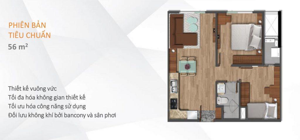 căn hộ flora akari city 56 m2